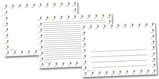 Colourful Kite Landscape Page Borders- Landscape Page Borders - Page border, border, writing template, writing aid, writing frame, a4 border, template, templates, landscape