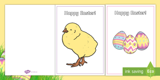 Easter Card Templates - Design, Easter Card, Easter Activity