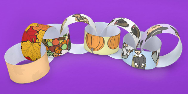 Thanksgiving Paper Chain USA - chains, activity, activities