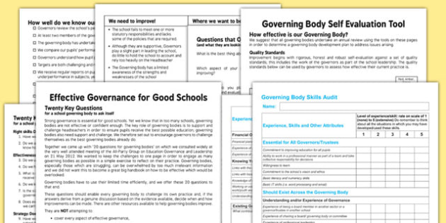 Governing Body Evaluation Pack - governing, body, evaluation