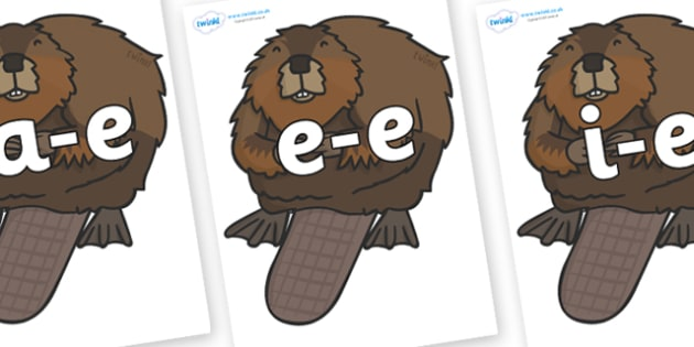 Modifying E Letters on Beavers - Modifying E, letters, modify, Phase 5, Phase five, alternative spellings for phonemes, DfES letters and Sounds