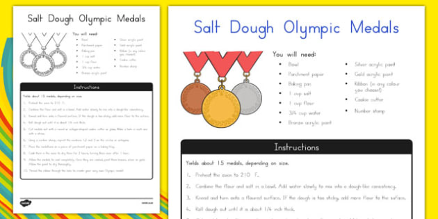 Salt Dough Olympic Medals Art Activity - usa, america, salt dough, olympic medals, art, activity