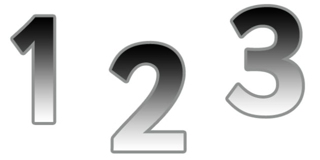 0-9 Display Numbers (Metallic Grad) - Display numbers, 0-9, numbers, display numerals, display lettering, display numbers, display, cut out lettering, lettering for display, display numbers