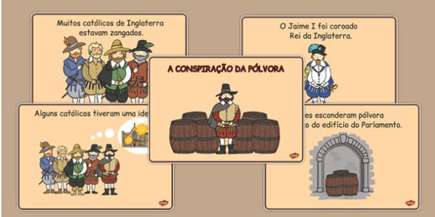 A conspiração da pólvora Portuguese - portuguese, gunpowder plot, story