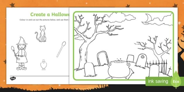 Create a Halloween Scene Activity