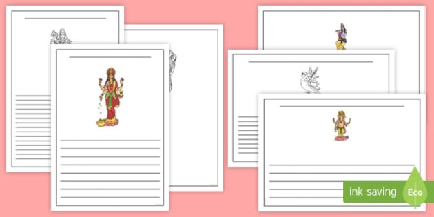 Hindu God Writing Frames Pack