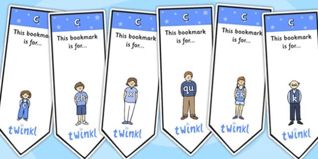 c Sound Family Editable Bookmarks - c sound family, editable bookmarks, bookmarks, editable, behaviour management, classroom management, rewards, awards