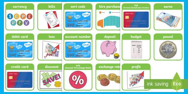 CfE Second Level Numeracy and Mathematics Money Keyword Flashcards - CfE Numeracy and Mathematics, number, money, flashcards, 2nd level, ,Scottish