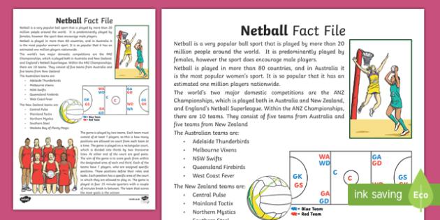 Netball Fact File-Australia