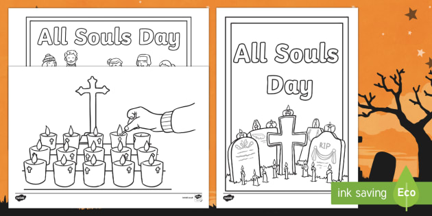 All Souls Day Colouring Pages