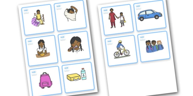 SEN Visual Timetable (Getting Ready For School - Sikh Girls) - getting ready for school, Visual Timetable, SEN, Daily Timetable, girls, School Day, Daily Activities, Daily Routine KS1