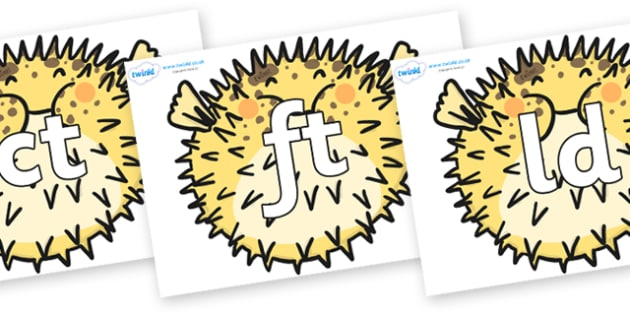 Final Letter Blends on Pufferfish - Final Letters, final letter, letter blend, letter blends, consonant, consonants, digraph, trigraph, literacy, alphabet, letters, foundation stage literacy