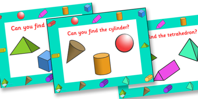 Can You Find The 3D Shape PowerPoint - 3D shapes, shapes, shape games, shape activities, powerpoint, shape powerpoint, 3D shape powerpoint, numeracy
