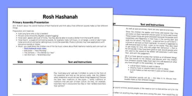 Rosh Hashanah Assembly Script - rosh hashanah, assembly, script