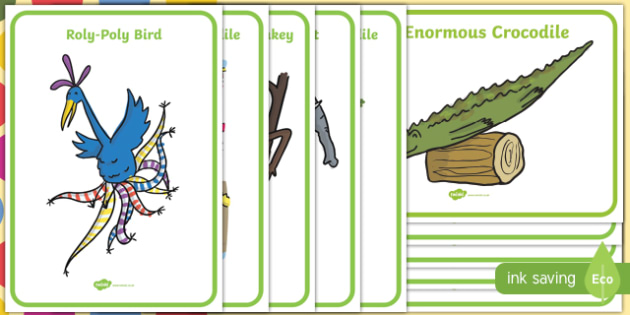 Display Posters to Support Teaching on The Enormous Crocodile - display poster, enormous