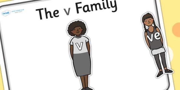 V Sound Family Cut Outs - sound families, sounds, cutouts, cut