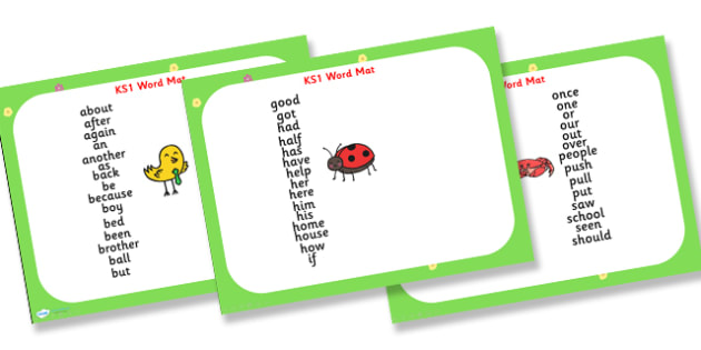 KS1 Word Mat PowerPoint - KS1, word mat, words, powerpoint, word mat powerpoint, KS1 powerpoint, KS1 words, KS1 literacy, literacy, literacy powerpoint
