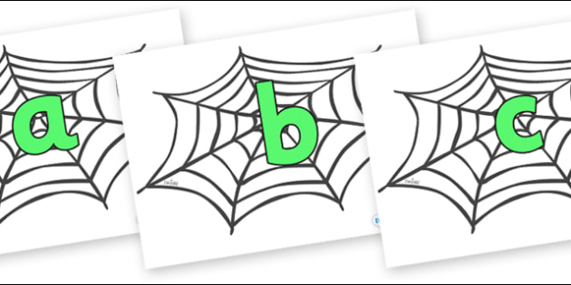 Phoneme Set on Spiders Web - Phoneme set, phonemes, phoneme, Letters and Sounds, DfES, display, Phase 1, Phase 2, Phase 3, Phase 5, Foundation, Literacy