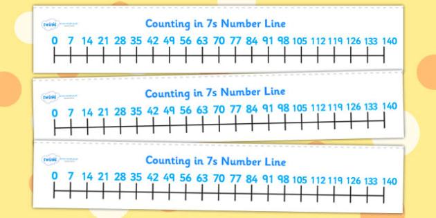 Counting In 7s Number Line - count, counting aid, maths, numeracy
