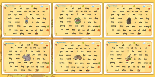 Autumn Themed FS2 Word Mat - autumn, FS2, word mat, autumn themed word mat, FS2 word mat, autumn word mat, autumn FS2 mat, mat of words, autumn mat