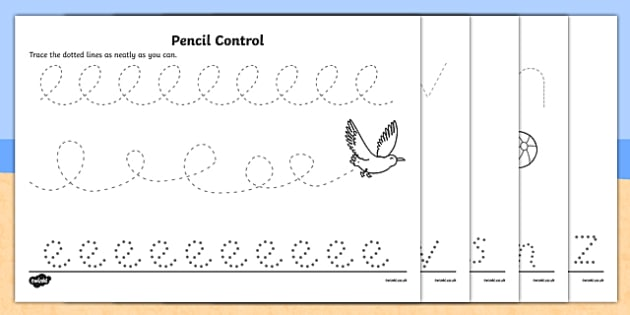 Seaside Pencil Control Activity Sheet Pack - seaside, seaside pencil control worksheets, seaside, seaside pencil control, seaside fine motor, fine motor