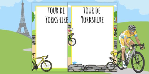 Tour De Yorkshire Page Borders - tour de yorkshire, page, borders
