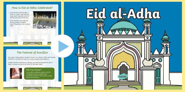 KS1 Eid al-Adha Information PowerPoint - Islam, Muslim, festival, celebration, sacrifice