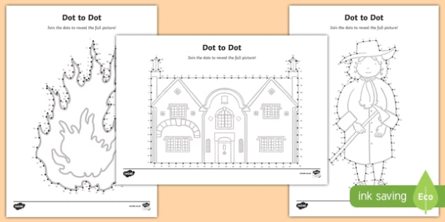 The Great Fire of London Dot to Dot Activity Sheet, worksheet