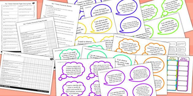 2014 Curriculum KS1 Science Assessment Pack - targets, assess