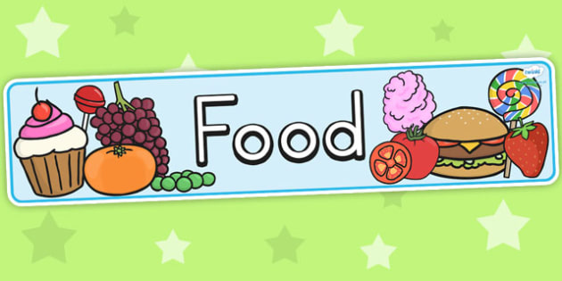 Food Display Banner - header, food display, eating, health, eat
