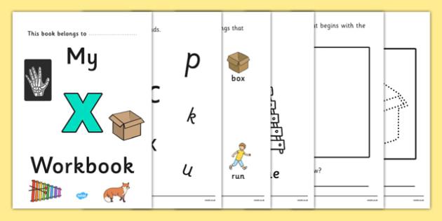 My Workbook x Lowercase - workbook, x workbook, letter x, my workbook, my x workbook, lowercase x, x, lowercase x workbook