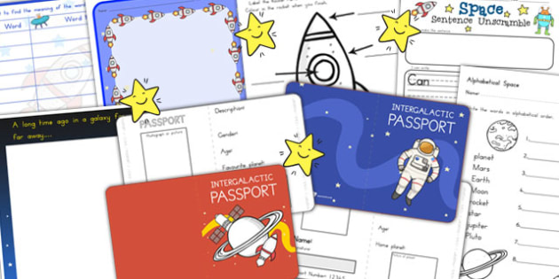 Space Themed Writing Activity Pack - australia, space, writing