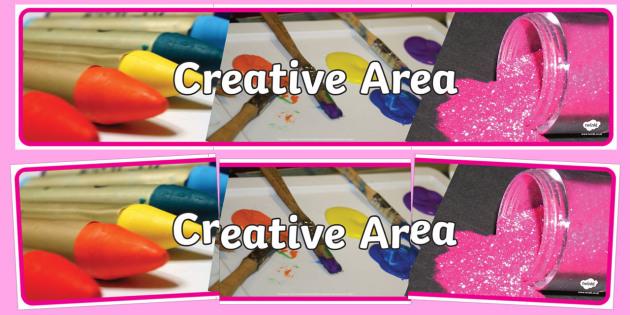 Creative Area Photo Display Banner - creative area, banner, display banner, display header, themed banner, header, banner for display, header for display