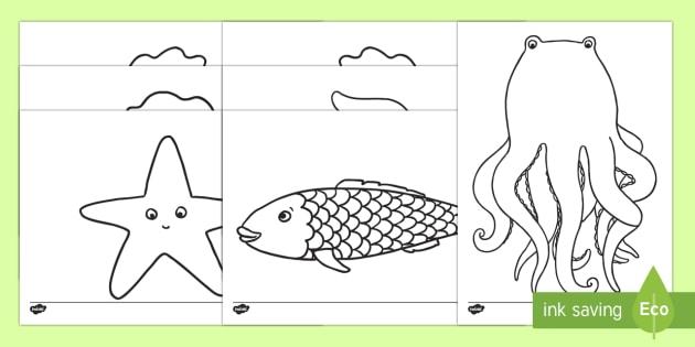 El pez arcoiris Hojas de colorear