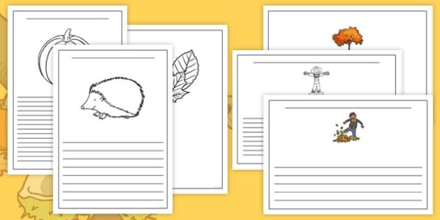 Autumn Writing Frames