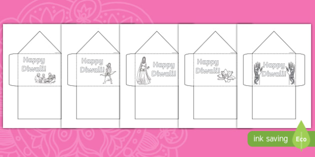 Diwali Colouring Envelope Activity