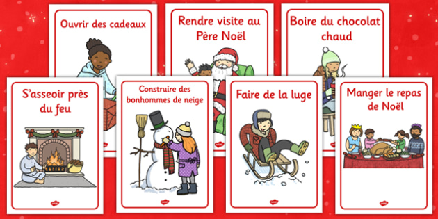 Winter Activities Posters French - french, winter, activities, posters, display
