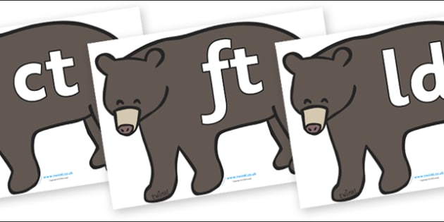 Final Letter Blends on Grizzly Bears - Final Letters, final letter, letter blend, letter blends, consonant, consonants, digraph, trigraph, literacy, alphabet, letters, foundation stage literacy