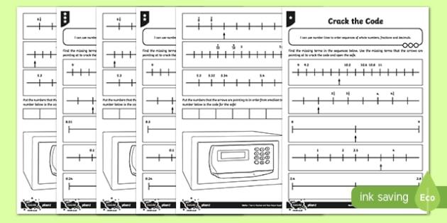 Crack the Code Activity Sheet, worksheet