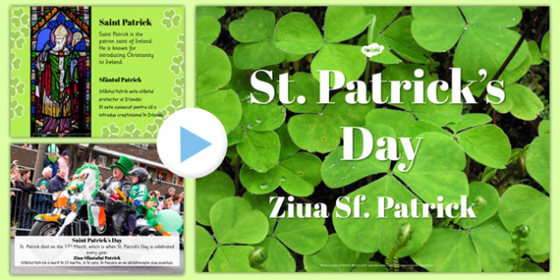 St Patrick's Day PowerPoint Romanian Translation - romanian, st patricks day, powerpoint, day