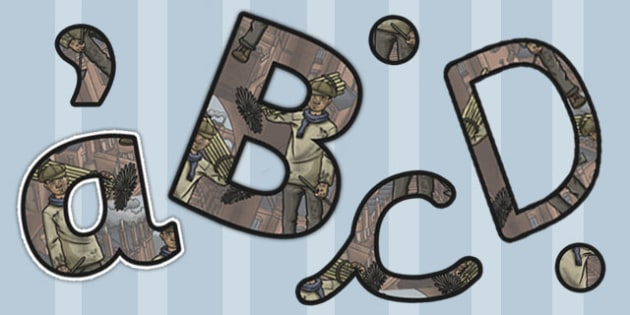 The Industrial Revolution Themed Display Lettering - industrial revolution
