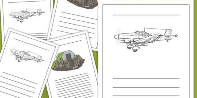 The Blitz Writing Frames - the blitz, writing frames, writing