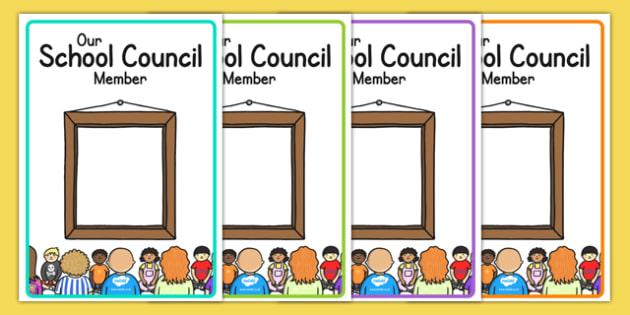School Council Member Notice Board Posters - displays, display