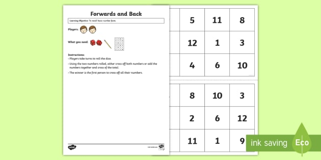 Forwards and Back   Maths Game - Maths Games