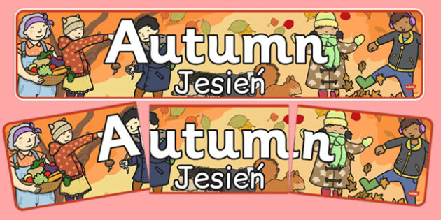 Autumn Display Banner Polish Translation - polish, autumn, display banner, display