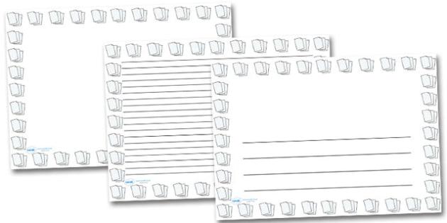 Lined Paper Landscape Page Borders- Landscape Page Borders - Page border, border, writing template, writing aid, writing frame, a4 border, template, templates, landscape