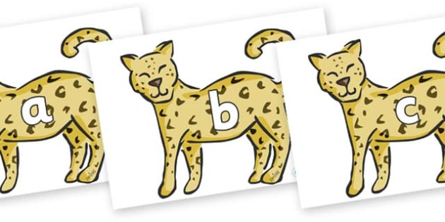 Phase 2 Phonemes on Leopards - Phonemes, phoneme, Phase 2, Phase two, Foundation, Literacy, Letters and Sounds, DfES, display