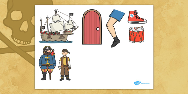 Pirate Ship Counting Song Cut Outs - Pirate, Song, Counting, Cut