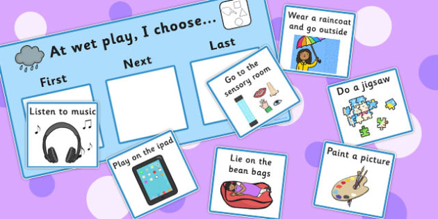 At Wet Play I Choose Choice Cards - wet play, I choose, cards