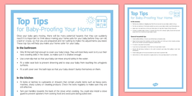 Top Tips for Babyproofing Your Home - Baby proof, safe, baby, home, house